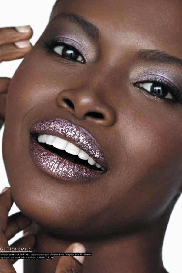 Nargis Magazine - Touch of glitter   Tania Cozma makeup